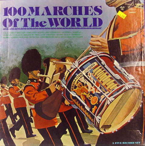 """100 Marches Of The World Vinyl 12"""""""