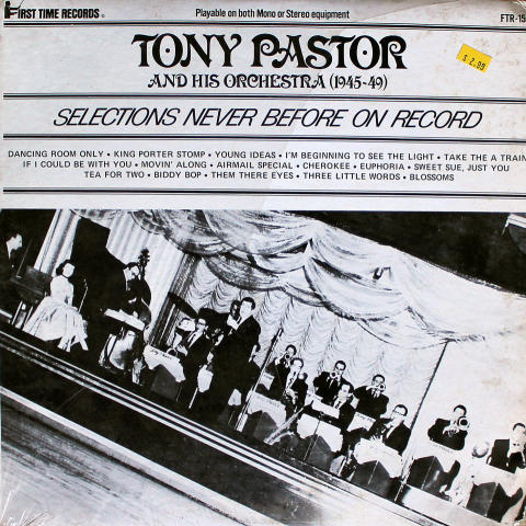 """Tony Pastor And His Orchestra Vinyl 12"""" (Used)"""