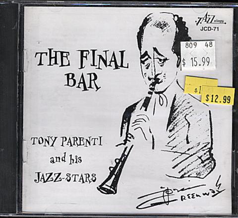 Tony Parenti And His Jazz-Stars CD