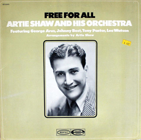 """Artie Shaw and His Orchestra Vinyl 12"""""""