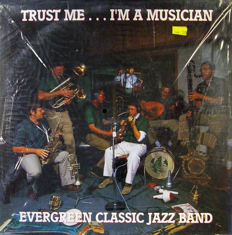 "Evergreen Classic Jazz Band Vinyl 12"""
