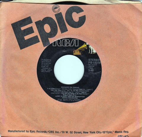 """Larry Elgart And His Manhattan Swing Orchestra Vinyl 7"""" (Used)"""