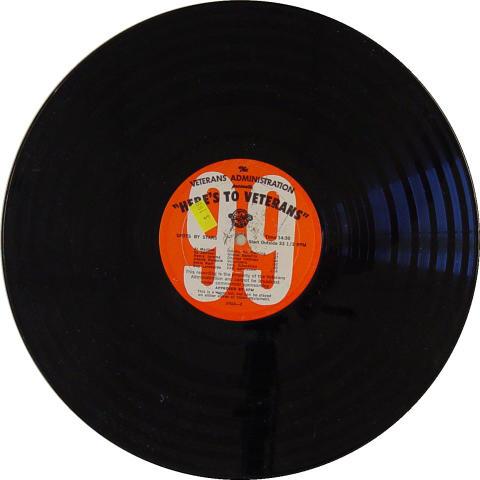 """Here's To Veterans"" Program No. 1282 Vinyl 12"""