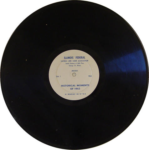 """Historical Moments of 1963 / News Outlook For 1964 Vinyl 12"""""""