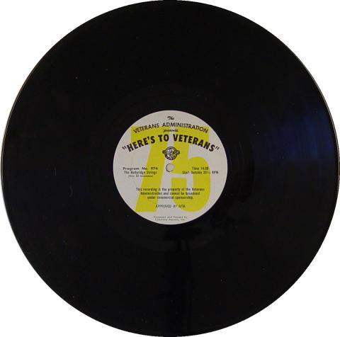"Here's To Veterans Program No.973 / 974 Vinyl 12"""