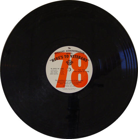 "Here's To Veterans Program No.1011 Vinyl 12"""