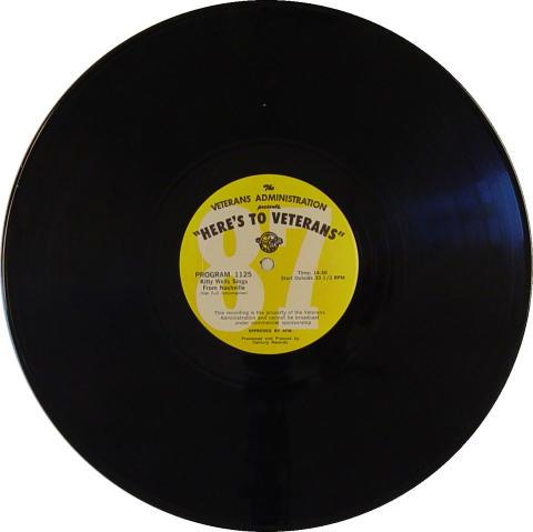 """""""Here's To Veterans"""" Program 1124 / 1125 Vinyl 12"""""""