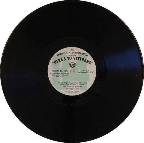"""Here's To Veterans"" Program 1094 / 1095 Vinyl 12"""