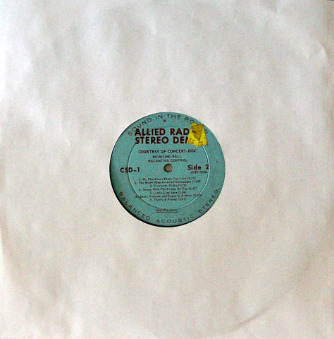 "Allied Radio Stereo Balancing Vinyl 12"""