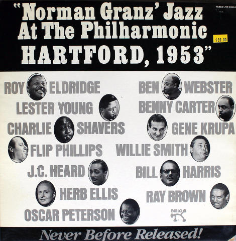 Norman Granz' Jazz At The Philharmonic: Hartford, 1953 Vinyl 12""