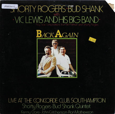 "Shorty Rogers / Bud Shank / Vic Lewis Vinyl 12"""