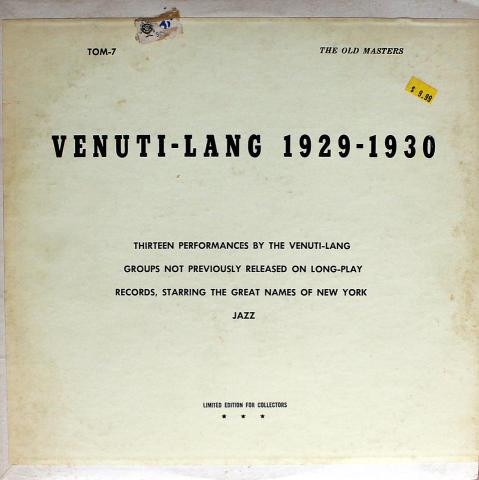 """Joe Venuti / Eddie Lang Vinyl 12"""""""