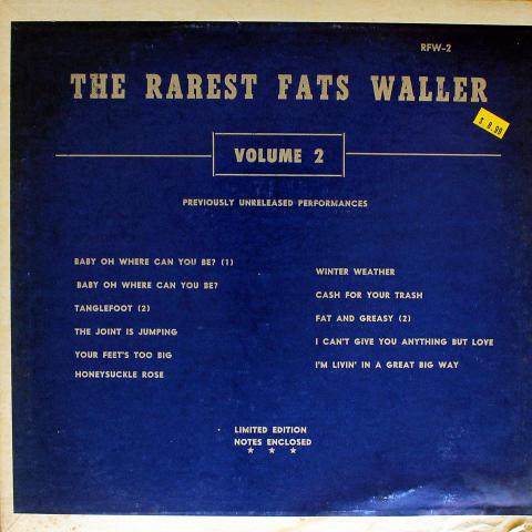 "Fats Waller Vinyl 12"""