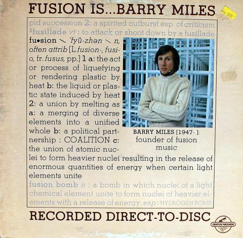 """Barry Miles Vinyl 12"""""""