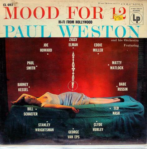 "Paul Weston & His Orchestra Vinyl 12"""