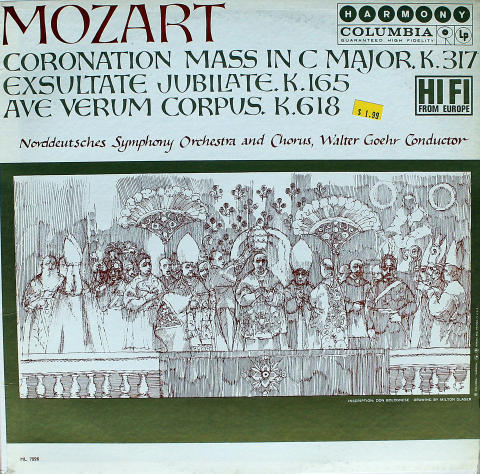 "Coronation Mass In C Major K.317 / Exsultate Jubilate K.165 / Ave Verum Corpus K.619 Vinyl 12"""