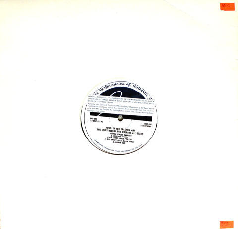 "The Louis Nelson New Orleans All Stars Vinyl 12"""