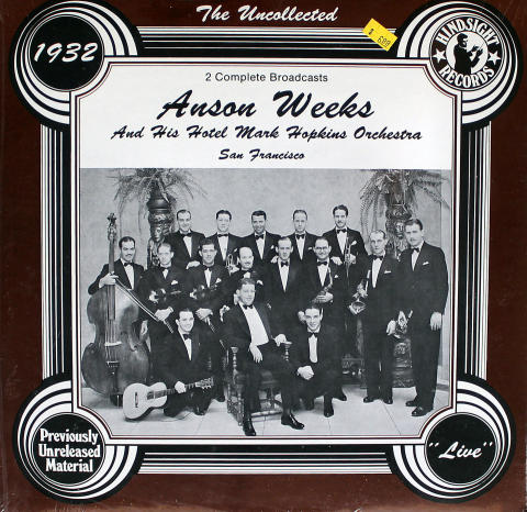 """Anson Weeks And His Hotel Hopkins Orchestra Vinyl 12"""""""