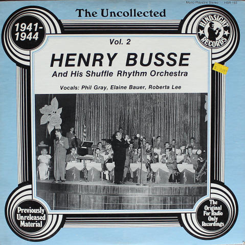 """Henry Busse And His Shuffle Rhythm Orchestra Vinyl 12"""""""