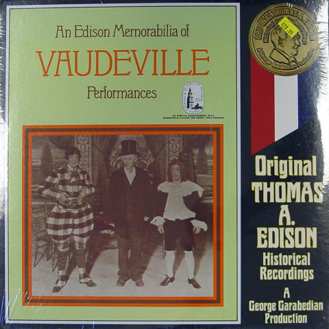 An Edison Memorabilia Of Vaudeville Performances Vinyl 12""
