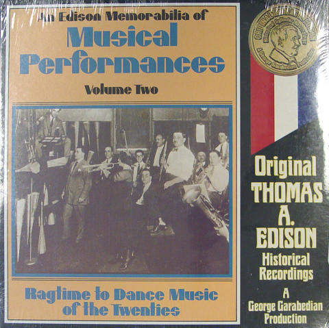 "An Edison Memorabilia Of Musical Performances: Volume Two Vinyl 12"""