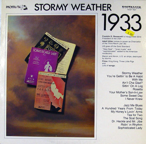 Stormy Weather 1933 Vinyl 12""