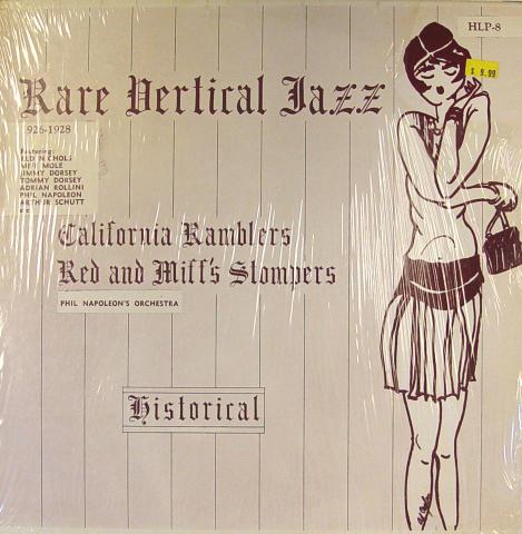 "Rare Vertical Jazz: 1926-1929 Vinyl 12"""