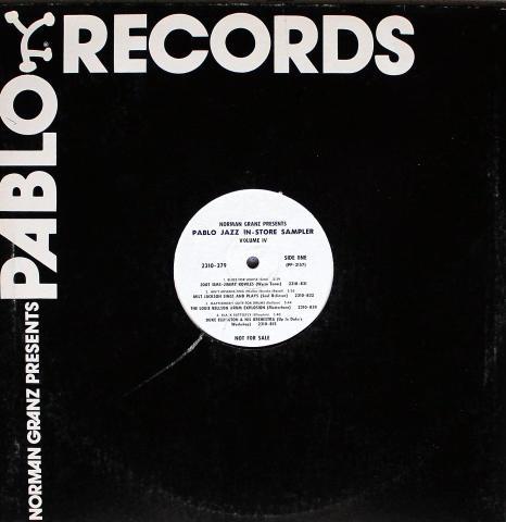 "Pablo Jazz In-Store Sampler Vinyl 12"""