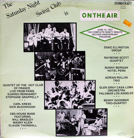 """The Saturday Night Swing Club Is On The Air Vinyl 12"""""""
