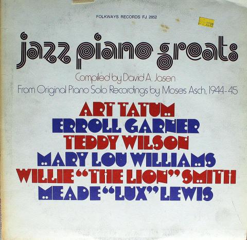 """Jazz Piano Greats Vinyl 12"""" (Used)"""