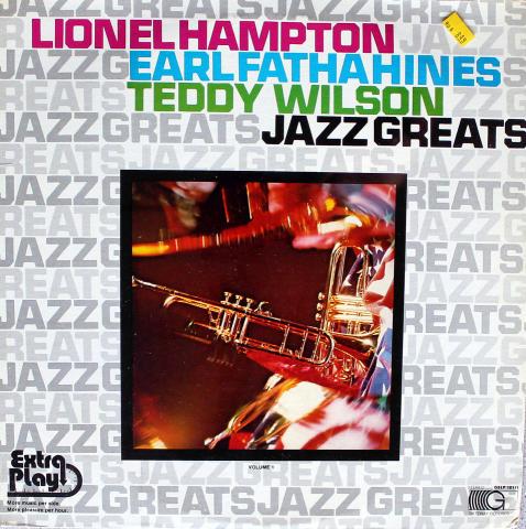 "Lionel Hampton / Earl ""Fatha"" Hines / Teddy Wilson Vinyl 12"""
