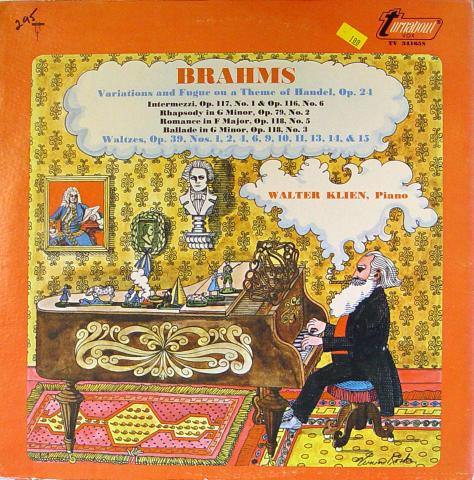 "Johannes Brahms Vinyl 12"""