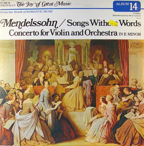 """Felix Mendelssohn Vinyl 12"""""""
