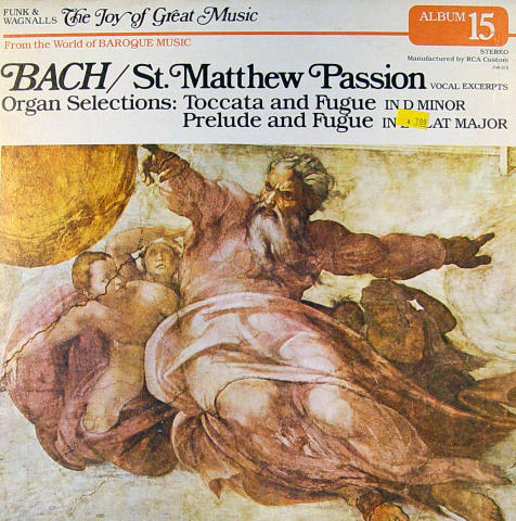 "Johann Sebastian Bach Vinyl 12"""