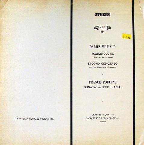 """Darius Milhaud / Francis Poulenc Vinyl 12"""""""
