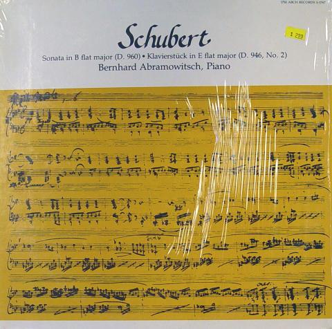"""Schubert Vinyl 12"""""""
