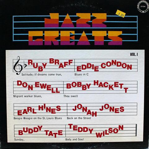 "Jazz Greats: Vol. 1 Vinyl 12"" (Used)"