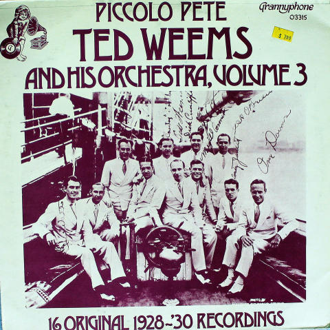 """Ted Weems & His Orchestra Vinyl 12"""""""