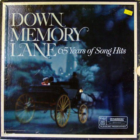 """Down Memory Lane: 65 Years Of Song Hits Vinyl 12"""""""