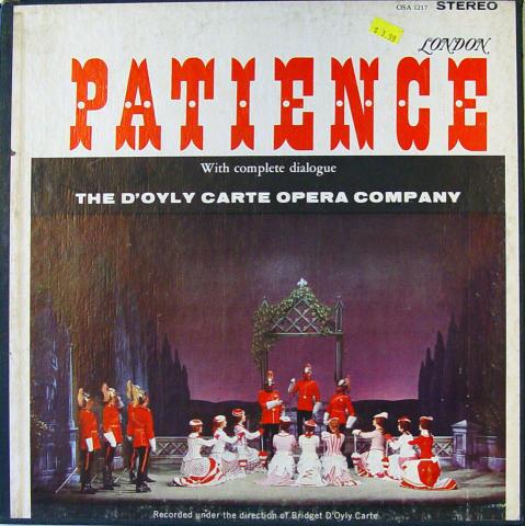 """Patience Vinyl 12"""""""