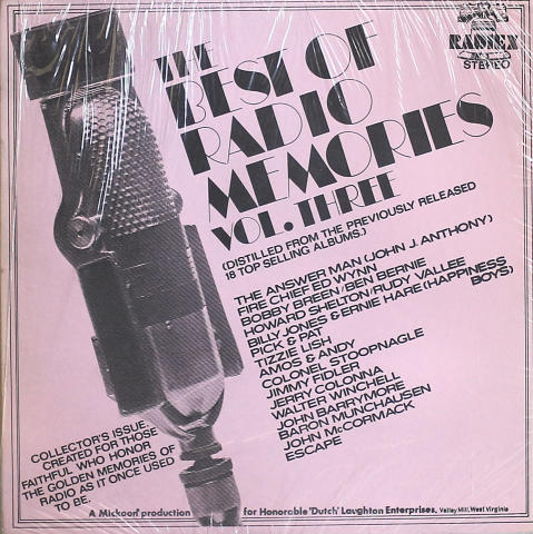 "Radio Memories Vol. 3 Vinyl 12"""
