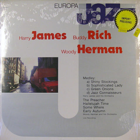 Harry James / Buddy Rich / Woody Herman Vinyl 12""