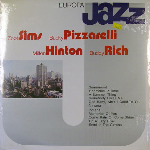"Zoot Sims / Bucky Pizzarelli / Milton Hinton / Buddy Rich Vinyl 12"""