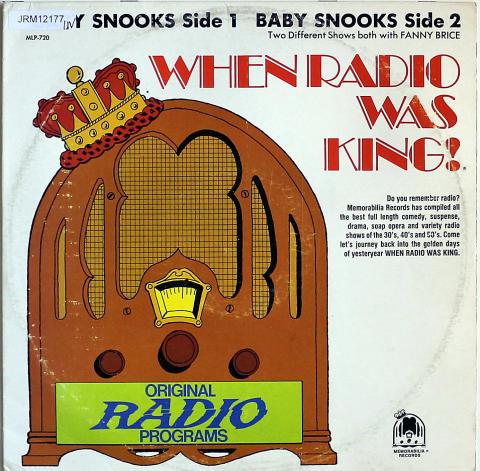 """Baby Snooks With Fanny Brice Vinyl 12"""""""