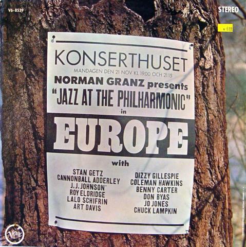 "Jazz At The Philharmonic In Europe Vinyl 12"""