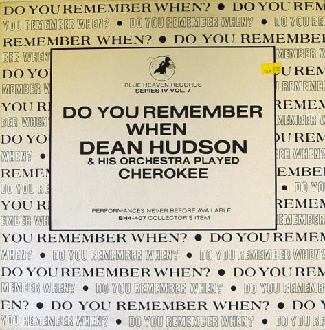 """Dean Hudson And His Orchestra Vinyl 12"""""""