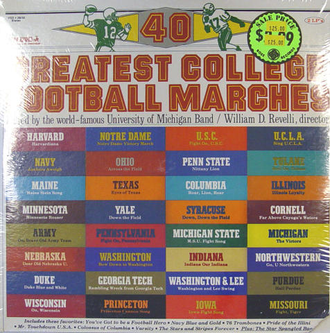 """40 Greatest College Football Marches Vinyl 12"""""""