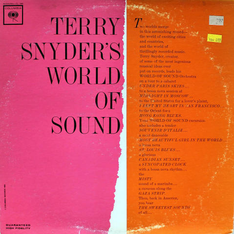 "Terry Snyder Vinyl 12"""