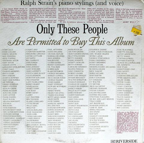 "Ralph Strain Vinyl 12"""