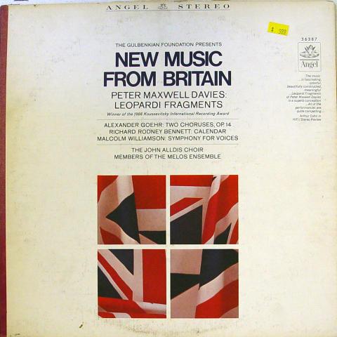 "New Music From Britain Vinyl 12"""